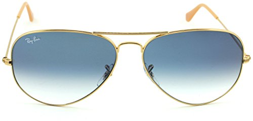Ray-Ban RB3025 Aviator Large Metal Gradient Unisex Aviator Sunglasses (Gold  Frame Crystal 0356ffa1a8