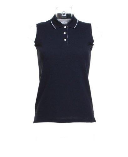 Kustom Kit Gamegear ® KK730 Pro Active Polo sans manches pour femme Bleu marine/blanc 16