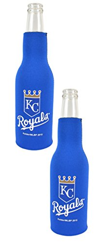 Official Major League Baseball Fan Shop Authentic MLB 2-pack Insulated Bottle Cooler Bundle. Show Team Pride At Home, Tailgating or At the Game (Kansas City Royals) ()