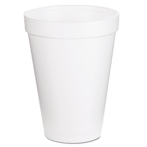 Foam Cup Dart - Dart Container Corp. 12J12 Foam Cups, 12 oz, White (Pack of 1000)