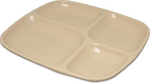 (Carlisle 4398625 Commercial 4-Compartment Cafeteria/Fast Food Tray, 10.5
