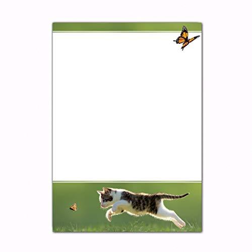 90 g-Offsetpapier Schmetterlingsjagd 25 Blatt//DIN A4 Designpapier Katzen