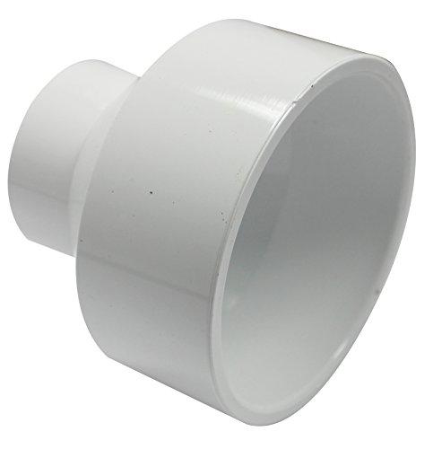 Canplas 193023 PVC DWV Reducing Coupling, 3-1 1/2-Inch, White (Reducer Coupling Pvc)