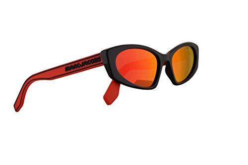 Marc Jacobs Marc 356/S Sunglasses Black w/Red Rubber Temples & Red Mirror Lens 54mm C9AUZ Marc 356S Marc356S Marc356/s ()
