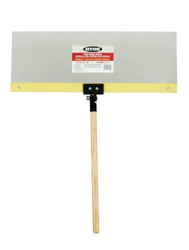 - Hyde Tools 28010 Proshield Spray Shield, 24 in L X 9 in W, Flexible Aluminum, Acme-Threaded Hardwood Handle, 24 x 9
