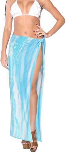 LA LEELA Rayon verschleiern Anzug Bade Wrap Sarong gedruckt EIN