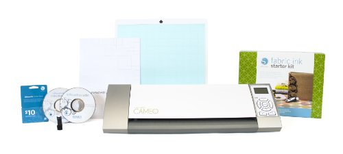 Silhouette Cameo Electronic Cutting Tool Plus Silhouette Fabric Ink Starter Kit for Scrapbooking by Silhouette