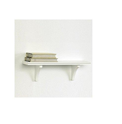 Kathy Ireland KA814000 Mission Bracket Shelf, 16-Inch by 5-Inch by 4.88-Inch, White