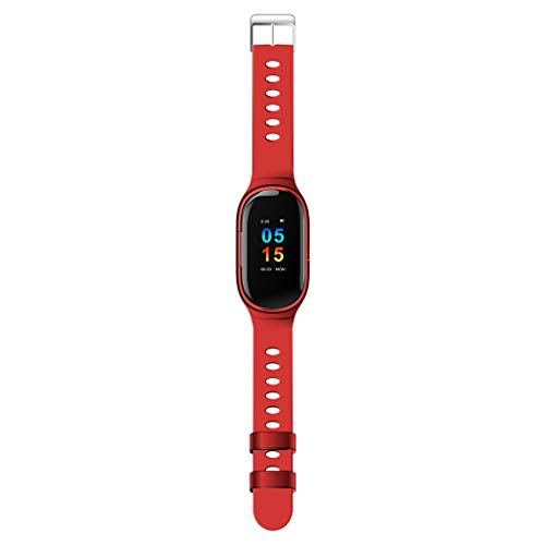 (QUICATCH Newest AI Smart Watch with Bluetooth EarphoneSmart Bracelet Long Standby Sport Watch Heart Rate Test Sleep Monitoring (Red))