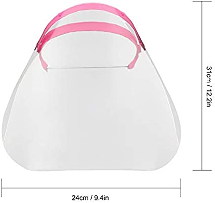 Topuality Unisex Transparente Gesichtsschutzmaske Anti-Spritzwasser Staubdicht Einstellbar Abnehmbarer Kordelzug Vollgesichtsabdeckung Werkstatt Kochreinigung