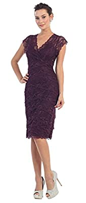 May Queen MQ974 Short Mother Of The Bride Dress
