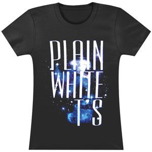 Plain White Ts Space Girls Jr Soft tee Small Black