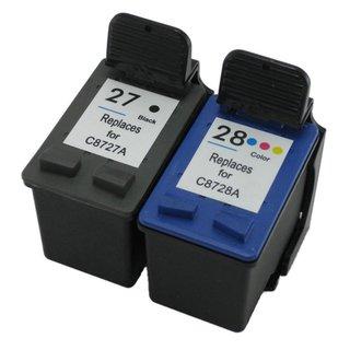 Prestige Cartridge 2 Compatible 27 28 Cartuchos de Tinta para HP ...