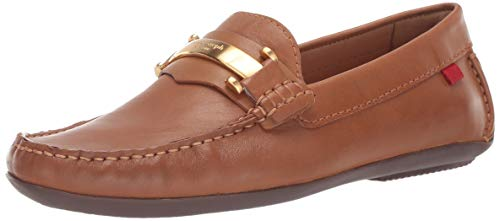 Marc Joseph New York Mens Genuine Leather Made in Brazil Bryant Park Driver Driving Style Loafer, tan Nappa, 10 D(M) US