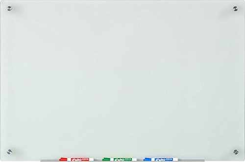 Audio-Visual Direct Frosted Glass Dry-Erase Board Set - 23 5/8 x 35 1/2 Inches - (Non-Magnetic)