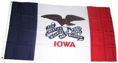 Fahne Flagge USA Iowa NEU 90 x 150 cm Flaggen