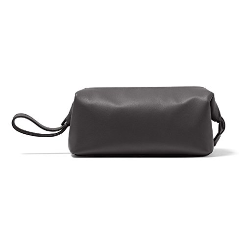 Leatherology Framed Toiletry Bag - Full Grain Leather - Black Onyx (black) by Leatherology