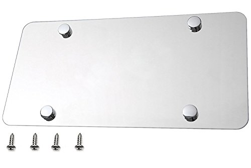 - LFPartS Plain Blank Stainless Steel License Plate Polished Mirror