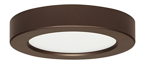 Satco Products S9322 Blink Flush Mount LED Fixture, 10.5W/5, Bronze Finish(pack of 1) by Satco