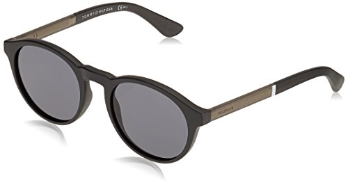Tommy Hilfiger Men's TH1476S Round Sunglasses, Matte Black, 51 mm (Tommy Hilfiger Sunglasses For Men In India)