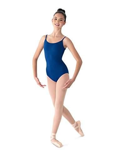 Mirella Women's Classic Camisole Dance Leotard with Scoop Front & V-Back,Royal,Large ()