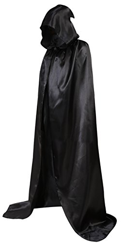 Frawirshau Unisex Hooded Cloak Cape Full Length Halloween Cosplay Costumes Masquerade Cloak