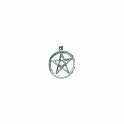 Shipwreck Pewter Pentagram Circle Pendant, Metallic, Silv...