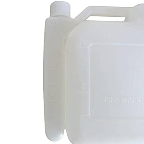 1L portátil de 2 tiempos gasolina Fuel Oil botella de mezcla de 25: 1/50: 1 motosierra Strimmer