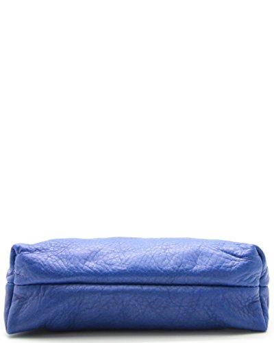 Cuir Bleu OE Femme histoireDaccessoires Pochette PM093821V Cesar xYxn5zr