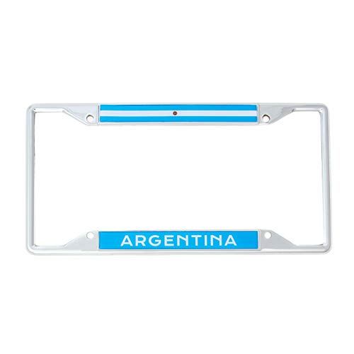Argentina Flag License Plate - Desert Cactus Country of Argentina Flag License Plate Frame for Front Back of Car Vehicle Truck Argentinian