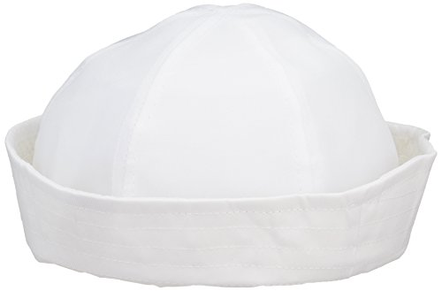 Rhode Island Novelty - White Sailor Hat, Made of Cotton, One Size Fits Most, 21