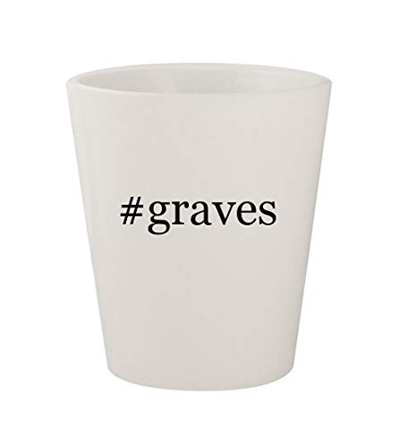 Graves Glass Michael Mug - #graves - Ceramic White Hashtag 1.5oz Shot Glass
