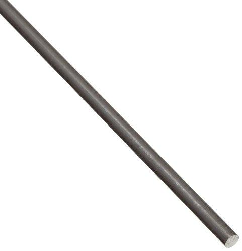 2024 Aluminum Round Rod, Unpolished (Mill) Finish, T4 Temper, ASTM B211, 1/4 Diameter, 12