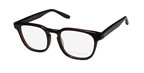 Barton Perreira Elwood Mens/Womens Designer Full-rim Highest Quality Trendy Eyeglasses/Eyewear (49-21-148, Sienna Brown)