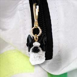 Boston Terrier Zipper Charm by Conversation Concepts   B00K0ORBJE