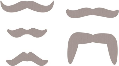 (QUICKUTZ We R Memory Keepers Mustaches Cookie Cutter Die Set)