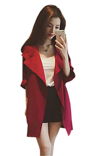 Outerwear Casual Mujer Mangas Sólidos Rot 3 Battercake Mujeres Solapa Hipster Prendas De Casuales 4 Exteriores Otoño Cardigan Chaqueta Anchos Colores Elegante HB7awqdx8