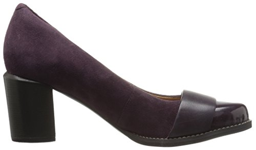Clarks Womens Tarah brae Dress Pump, Aubergine Combi, 7 M US