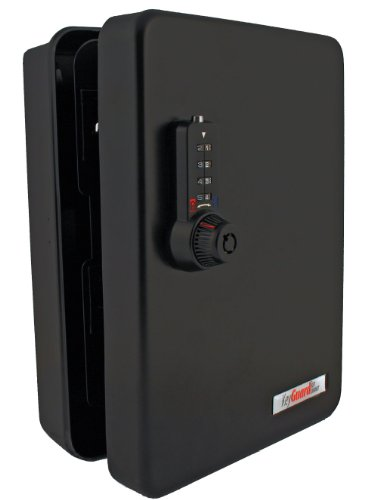 KeyGuard SL-8548-UB Dual Access Combination Key Cabinet With Black 4-Dial Combi-Cam Ultra - 48 Hook