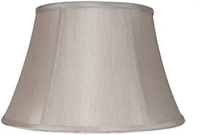 Urbanest Softback Bell Lampshade, Faux Silk, 16-inch, Champagne, Spider