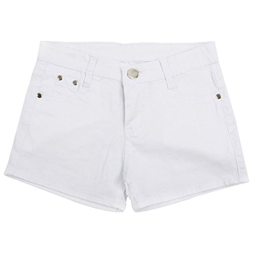 Jeans Short Corti Donne Pantaloni Shorts Slim Estate S 26 Di Denim Fit r Sodial Bianco Candy qCvzTnCf