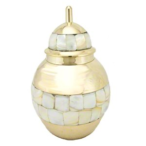Elegant, Mother of Pearl Pet Memorial Urn - Medium