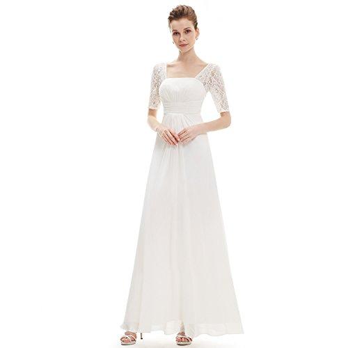 amp;S elegante Prom de mujer Maxi fiesta MEI White Noche Larga vestido Vintage de vestido RwxYttHdq