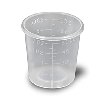 2 Ounce Medicine Cups - Thick Plastic Disposable Medicine Cups