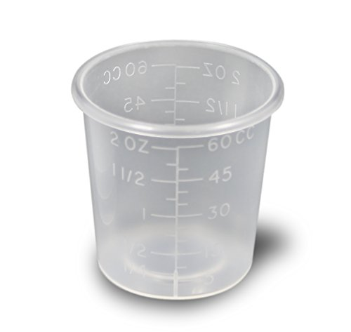 2 Ounce Medicine Cups - Thick Plastic Disposable Medicine Cups (100)