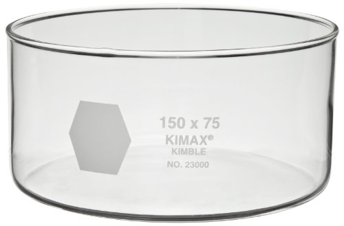 Kimax 23000-5035 Glass 50mL Crystallizing Dish, 50mm Diameter x 35mm Height (Pack of 6) by Kimax