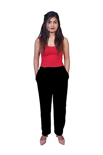 Olizo High Waisted Palazzo Trouser Pants for Formal/Casual Wear With Pocket   Stylish western pants for girls stylish pallazo pants for women women clothing apparel
