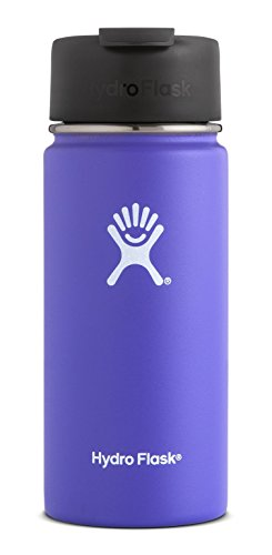 Hydro Flask 20 oz Double Wall Vacuum Insulated Stainless Steel Water Bottle / Travel Coffee Mug, Wide Mouth with BPA Free Hydro Flip Cap, Plum