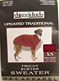 Vo-Toys Doggie Duds Updated Traditional Sweater Dark Red XSmall