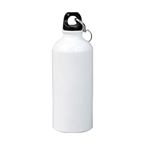 50pcs/carton - 500ml White Blank Aluminum Sports Bottle for 3D Sublimation Printing, Dia 2.68'' Heat Press Sports Water Bottles by H-E